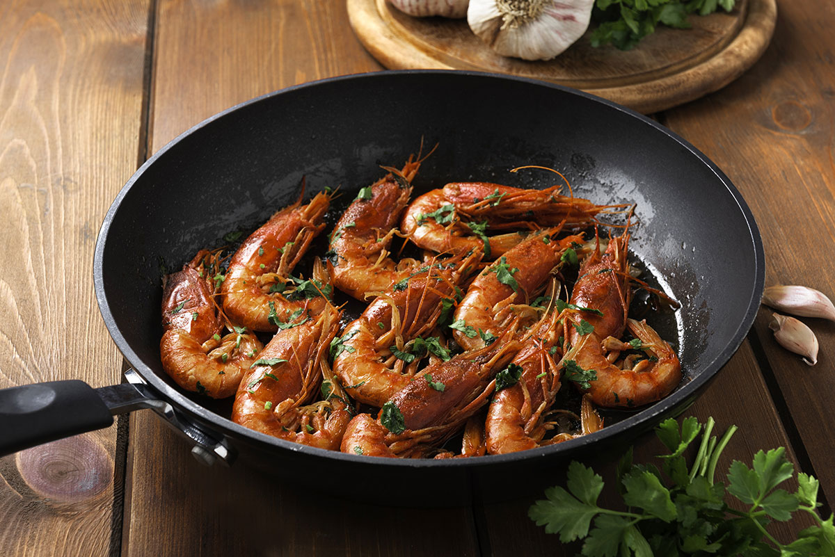 simple pan fried prawns